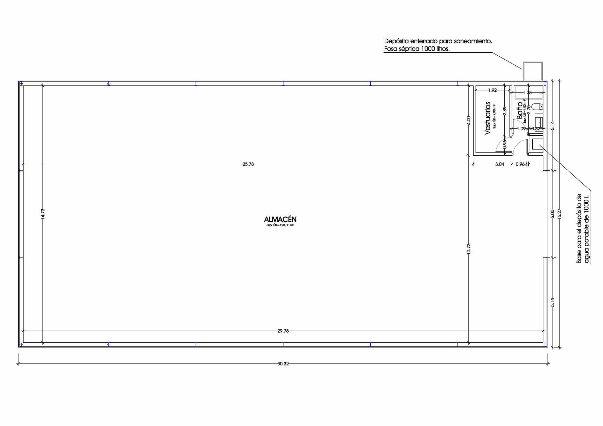 Proyecto de Ejecución para Nave de aperos en Villena 2