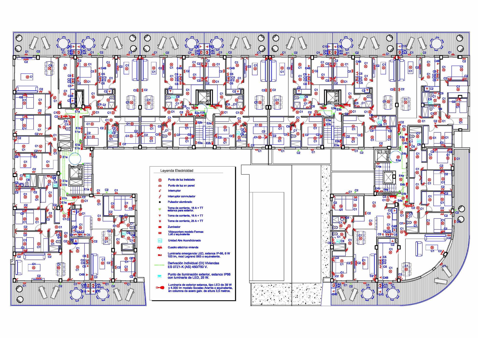 Proyectos de Instalaciones para edificio de 68 viviendas en Elche