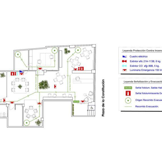 Proyecto Apertura para local destinado a servicios inmobiliarios en plaza constitución 13, Elche