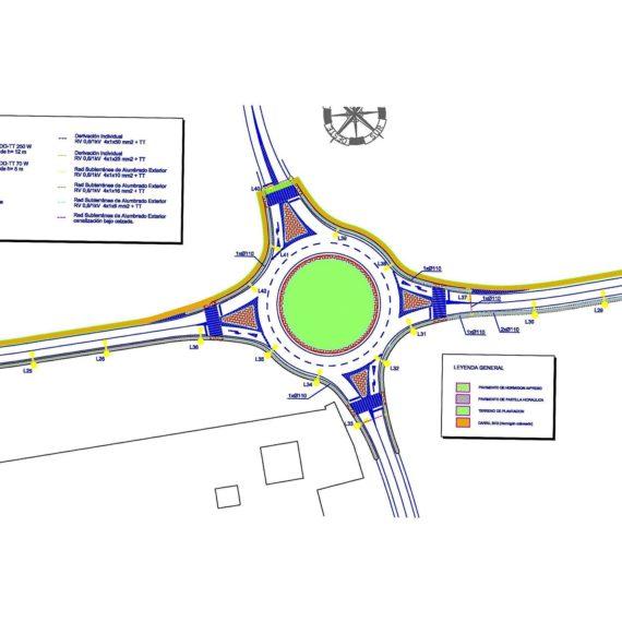 Proyecto de Alumbrado para accesos y glorieta en CV-838, pedanía de Chinorlet, Monóvar (Alicante)