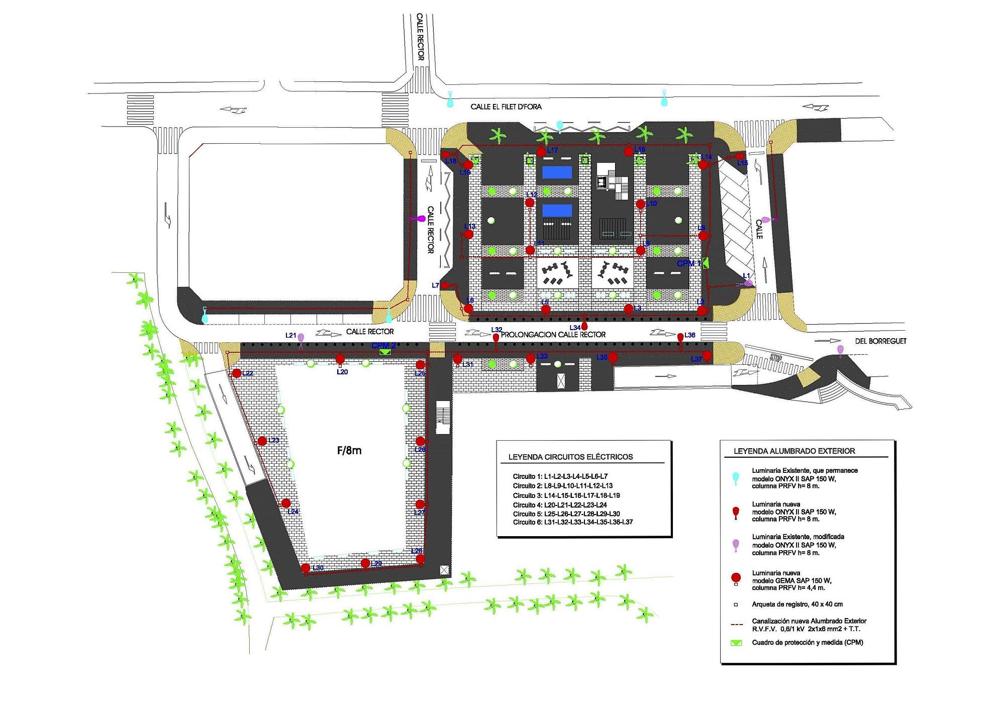 Proyecto de Instalaciones Aparcamiento Subterráneo Público en el antiguo Cine Avenida, Elche