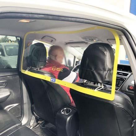 mampara protectora vehiculos